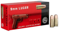 Geco 9mm 115gr, Jacketed Hollow Point, 50rd/Box