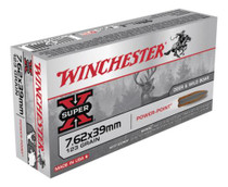 Winchester Super X 7.62X39 Pointed Soft Point 123gr, 20Box/10Case