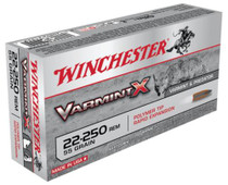 Winchester Varmint X .22-250 Remington 55gr, Varmint X Polymer, 20rd Box