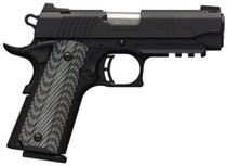 "Browning 1911-380 .380 ACP, 3.62"", Black/Gray G10 Grip, Black Stainless Steel, 8+1rd"
