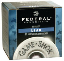 "Federal Game Load, Hi-Brass, 410 Ga 3"", #6, .6875oz (11/16), 25rd Box"