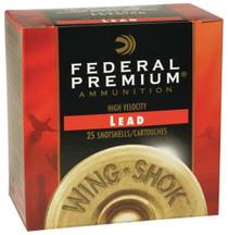 "Federal P1586 Prem WingShok Magnum Lead 12 ga 3"" 1-7/8oz 6 Shot25Bx/10Cs"