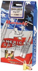 Hornady American Gunner Bulk Pack 9mm 115 Grain XTP, 75rd/Box