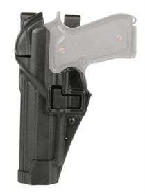 Blackhawk Level 3 Serpa Auto Lock Duty Matte Black S&W M&P 9mm/.40, Left Hand
