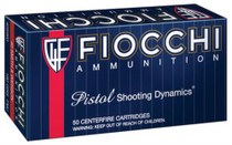 Fiocchi Shooting Dynamics .40 SW 180gr, FMJ, Truncated 50rd/Box