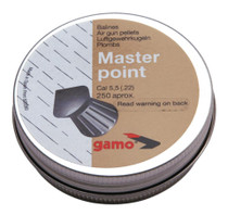 Gamo Master Point Pellets .22 Caliber Pointed Head 250 Per Tin