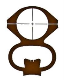 Ironsighter See-Thru Mounts For Remington 700 Black Finish