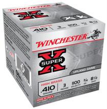 """Winchester Super-X High Brass .410 Ga, 3"""", 1100 FPS, .75oz, 8.5 Shot, 25rd/Box"""