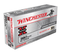 Winchester Super-X Handgun .380 ACP 85 Grain Silvertip Hollow Point 50rd/Box