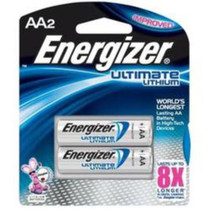 Energizer Ultimate Lithium AA Battery, 2 Pack