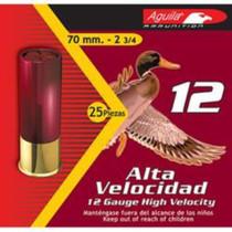 "Aguila High Velocity 12 Ga, #7.5 Lead Shot, 2-3/4"", 1-1/4 oz, 25rd/Box"