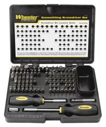 Wheeler Professional Gunsmith Screwdriver Set - 89 piece