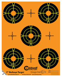 "Battenfeld Technologies Caldwell Orange Peel Flake Off Bullseye Targets 2"" 10 Sheets/5 Per Sheet"