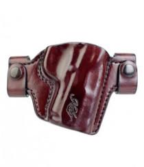 Kimber Premier holster for Ultra-size (3-inch) 1911 models QR belt snaps brown leather Kimber logo by Mitch Rosen