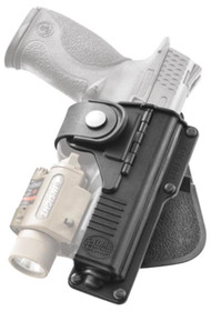 Fobus Tactical Roto Holster, Glock 19/23/32/38, Light/Laser, RH, Black, Kydex