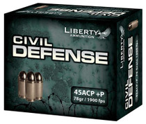 Liberty Ammo Civil Defense 78gr, LF Fragmenting HP, 20rd/Box