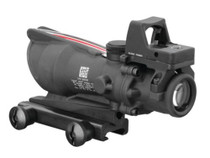 Trijicon ACOG 4x32 Dual Illuminated Red Chevron .223 Ballistic Reticle and 4MOA RMR Red Dot Sight Combo Black Finish
