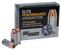 Sig Ammo 38 Super Plus P 125Gr Elite V-Crown JHP 20rd/Box