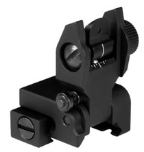 Aim Sports AR Low Profile Flip Up Rear Sights AR-15 Black