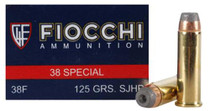 Fiocchi .38 Special, 125 Gr, Complete Metal Jacket, 50rd/Box