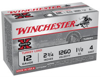 "Winchester Super-X Turkey 12 Ga, 2.75"", 1260 FPS, 1.5oz, 4 Shot Copper Plated, 10rd/Box"