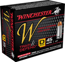Winchester W Train & Defend 45 ACP Defend 230 gr, JHP 20rd/Box