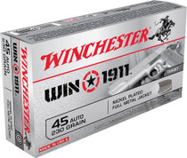 Winchester WIN1911 45 ACP 230gr, Full Metal Jacket, 50rd/Box