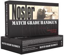 Nosler Match Grade Handgun Ammunition 9mm 124gr, Jacketed Hollow Point 50rd Box