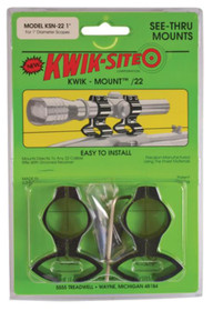 Kwik-Site Original See-Thru Mounts For Grooved Receiver Black
