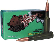 Brown Bear .223 62gr, Jacketed Hollow Point, 20rd/Box