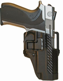 Blackhawk CQC Carbon Fiber Serpa Active Retention Holster Textured Black Right Hand For Smith & Wesson 5900/400 and TSW