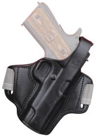 Bulldog Deluxe Molded Automatic Holster, Thumb Break RH Large Leather Black, Glock 26, S&W M&P