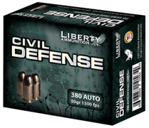 Liberty Ammo Civil Defense . ACP 50gr, LF Fragmenting Hollow Point, 20rd Box