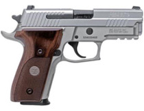 "Sig P229 AS Elite 9mm, 3.9"", Stainless, Nigh Sights, Wood Grips, 2x15rd"