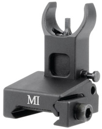 Midwest Locking Low Profile Flip-Up Front Sight For Handguard Mounting Matte Black