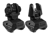 Mako Flip Up Backup Sight Set AR-15/M4/M16 Picatinny Rail Black