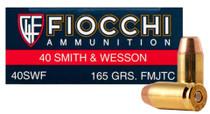 Fiocchi .40 S&W, 165 Gr, FMJTC, 250rd/Case