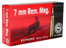 Geco 7mm Rem Mag 155gr, Expanding, 20rd/Box, 10 Box/Case