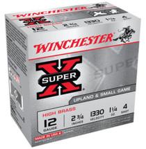 "Winchester Super X High Brass 12 Ga, 2.75"", 1-1/4 oz, 4 Shot, 25rd/Box"