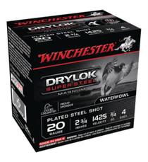 "Winchester Super X Waterfowl Loads 20 Ga, 2.75"", 3/4oz, 4 Shot, 25rd/Box"