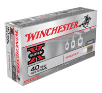 Winchester WinClean 40 S&W Brass Enclosed Base 165gr, 50Box/10Case