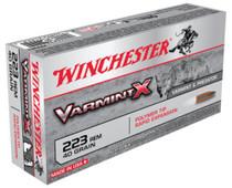 Winchester Varmint X .223 Rem 40gr, Polymer Tip, 20rd Box