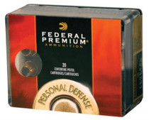 Federal Personal Defense 10mm Auto 180 Grain Hydra-Shok Jacketed Hollow Point 20rd Box