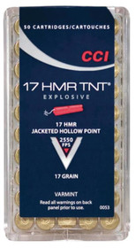 CCI 17HMR Jacketed Hollow Point 17gr 50rd/Box