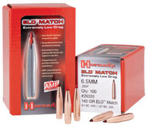 Hornady ELD-M, 6.5MM, 100 Count, 140 Grain