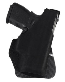 "Galco Paddle Lite Fits Belt Width 1.75"" Black Premium Center Cut Steer, Kahr MK40, Right Hand"