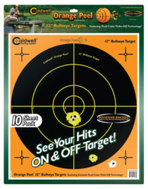 "Battenfeld Technologies Caldwell Orange Peel Flake Off Shooting Targets 12"" Bullseye 10 Sheets"