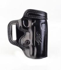Kimber 1911 4-inch Avenger holster black leather tension screw Kimber logo