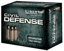 Liberty Civil Defense 45 LC 78 gr, LF Fragmenting HP 20rd/Box