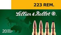 Sellier & Bellot 223 Rem 55gr, SP, 20Rd/Box